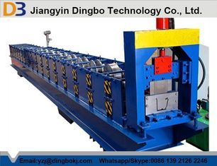 Low Noise 5.5kw Standard Gutter Roll Forming Machine 15 Groups Roller